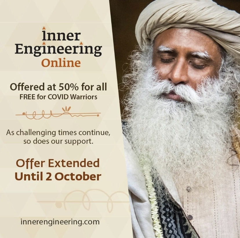 Yoga/Meditation:Online Inner Engineering program Free to Healthcare Professional
