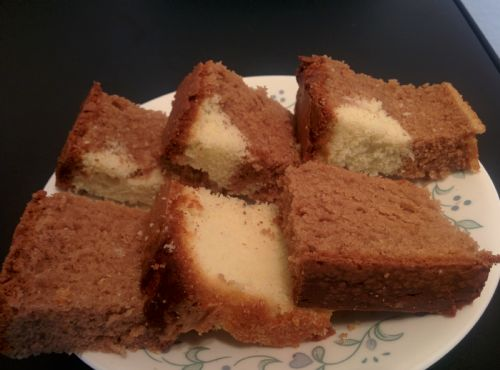 Half Chocolate and Half Vanila Pound Cake